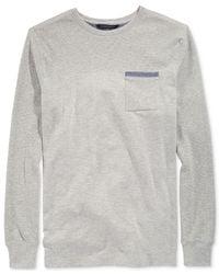 Sean John | Gray Big And Tall Pocket Thermal Shirt for Men | Lyst