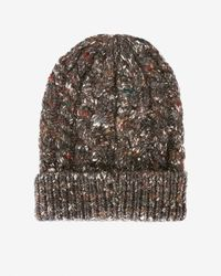 Exclusive For Intermix | Gray Flecked Yarn Knit Beanie | Lyst
