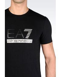 EA7 - Black Short Sleeved T-shirt for Men - Lyst