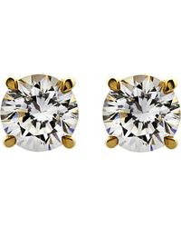 Carat* | Metallic Round 1ct Solitaire Stud Earrings | Lyst