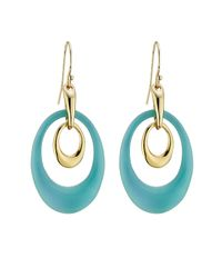 Alexis Bittar - Blue Alexis Bittar Basic Two Loop Earrings With Lucite - Gold - Lyst