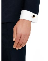 Lanvin - Metallic Gold-plated Cufflinks for Men - Lyst