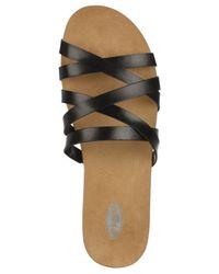 Dr. Scholls - Black Ruth Footbed Slide Sandals - Lyst