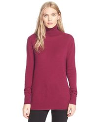 Equipment | Purple 'oscar' Cashmere Turtleneck | Lyst