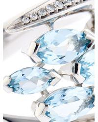 Shaun Leane | Blue Diamond, Aquamarine & White-Gold Ring | Lyst