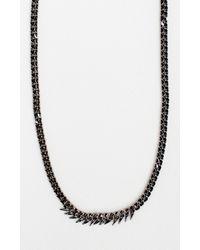 Nicole Miller - Black Petite Fin Necklace - Lyst