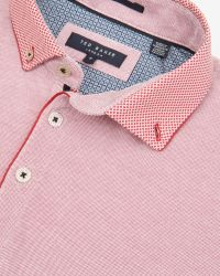Ted Baker - Pink Woven Collar Polo Shirt for Men - Lyst