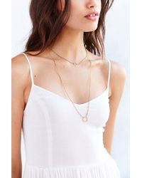 Urban Outfitters | Metallic Open Circle Layering Necklace | Lyst