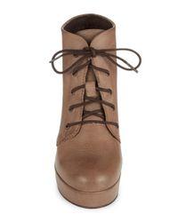 Steve Madden | Brown Raspy Leather Booties | Lyst