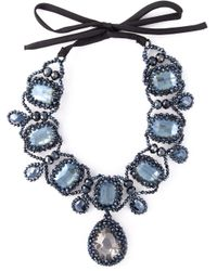 Night Market | Blue Crystal Drop Necklace | Lyst