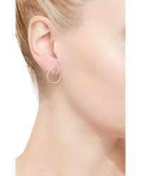 Hirotaka - Metallic Diamond Doorknocker Earrings With Hoops - Lyst