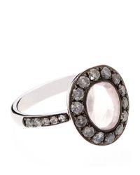 Annoushka | Black Dusty Diamonds Rose Quartz Ring | Lyst