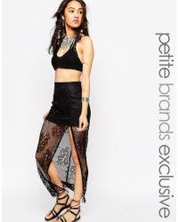 Tiger Mist - Black Burning Lace Maxi Skirt - Lyst