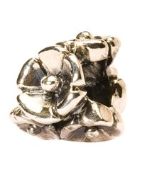 Trollbeads | Metallic 'forget-me-not' Silver Bead | Lyst