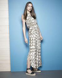 Vince - Brown Ikat-print Cargo Maxi Dress - Lyst