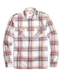 Brooks Brothers | Red Plaid Flannel Sport Shirt for Men | Lyst