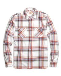 Brooks Brothers - Red Plaid Flannel Sport Shirt for Men - Lyst