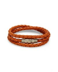 Porsche Design | Orange 'grooves' Wrap Bracelet for Men | Lyst