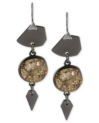 Robert Lee Morris | Metallic Robert Lee Morris Drusy Triple Drop Earrings | Lyst