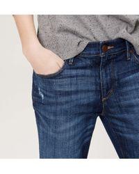LOFT - Blue Petite Modern Skinny Jeans In Mid Indigo Wash - Lyst