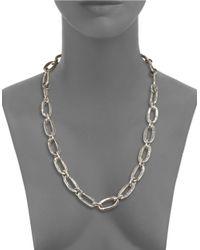 Uno De 50   Metallic Chain Link Necklace   Lyst