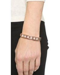 Vita Fede | Pink Cylinder Crystal Bracelet - Rose Gold/clear | Lyst