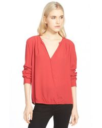 Trouvé | Red Surplice Zip Cuff Blouse | Lyst