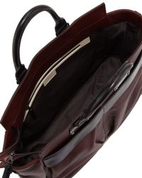 Rag & Bone - Red Pilot Large Leather Satchel Bag Wine - Lyst