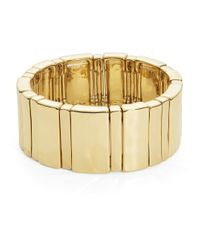 Lauren by Ralph Lauren | Metallic Goldtone Stretch Bracelet | Lyst