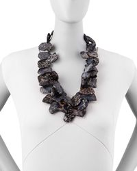 Nest | Black Chunky Jasper Necklace | Lyst