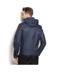 Calvin Klein | Blue Textured Herringbone Jacket for Men | Lyst