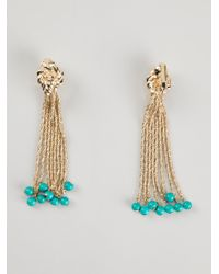 Aurelie Bidermann - Green Hanging Pendant Earrings - Lyst