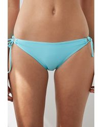 Forever 21 - Blue Self-tie Keyhole Bikini Bottoms - Lyst