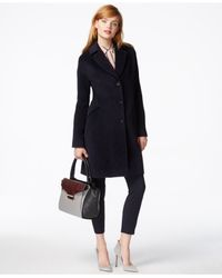Jones New York | Blue Textured Walker Coat | Lyst