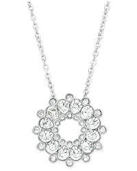 Swarovski | Metallic Silver-tone Crystal Pendant Necklace | Lyst