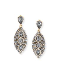 Oscar de la Renta | Yellow Navette Crystal Drop Clip Earrings | Lyst