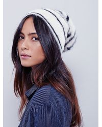 Free People | White Womens Printed Grizzly Beanie | Lyst