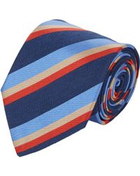 Etro | Blue Diagonal Stripe Neck Tie for Men | Lyst