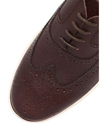 Ferragamo - Brown Marlow Embossed Leather Brogue Shoes for Men - Lyst