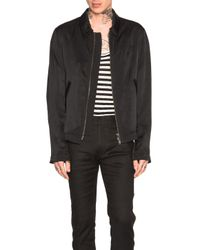Haider Ackermann | Black Blouson Zip Jacket | Lyst