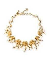 Oscar de la Renta | Metallic Sea Swirl Statement Necklace | Lyst