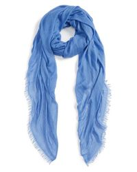 Rag & Bone | Blue 'buckley' Scarf | Lyst