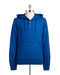 Lucky Brand | Blue Lightweight Henley Sweatshirt for Men | Lyst