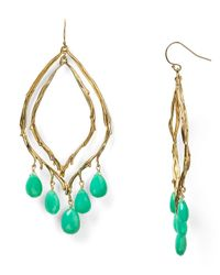 Alexis Bittar - Green Dangling Feathered Teardrop Earrings - Lyst