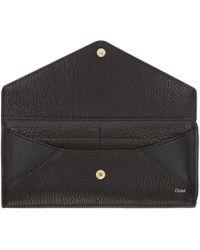 Chloé - Black Textured Leather Patchwork Wallet - Lyst