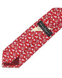 Ferragamo - Red Multi-butterfly Print Tie for Men - Lyst