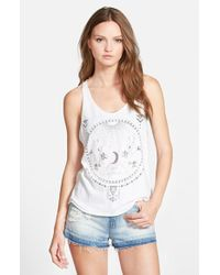 Project Social T - White 'moon Circle Aztec' Graphic Tank - Lyst