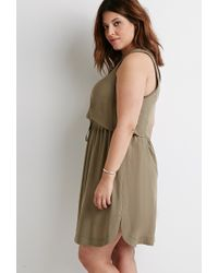Forever 21 - Green Plus Size Drawstring Waist Dress - Lyst