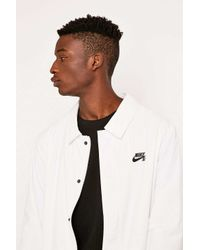 1a95432f4dd0b Nike White Coaches Jacket in White for Men - Lyst