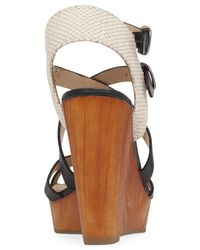 Lucky Brand   Black Women's Lahoya Strappy Platform Wedge Sandals   Lyst